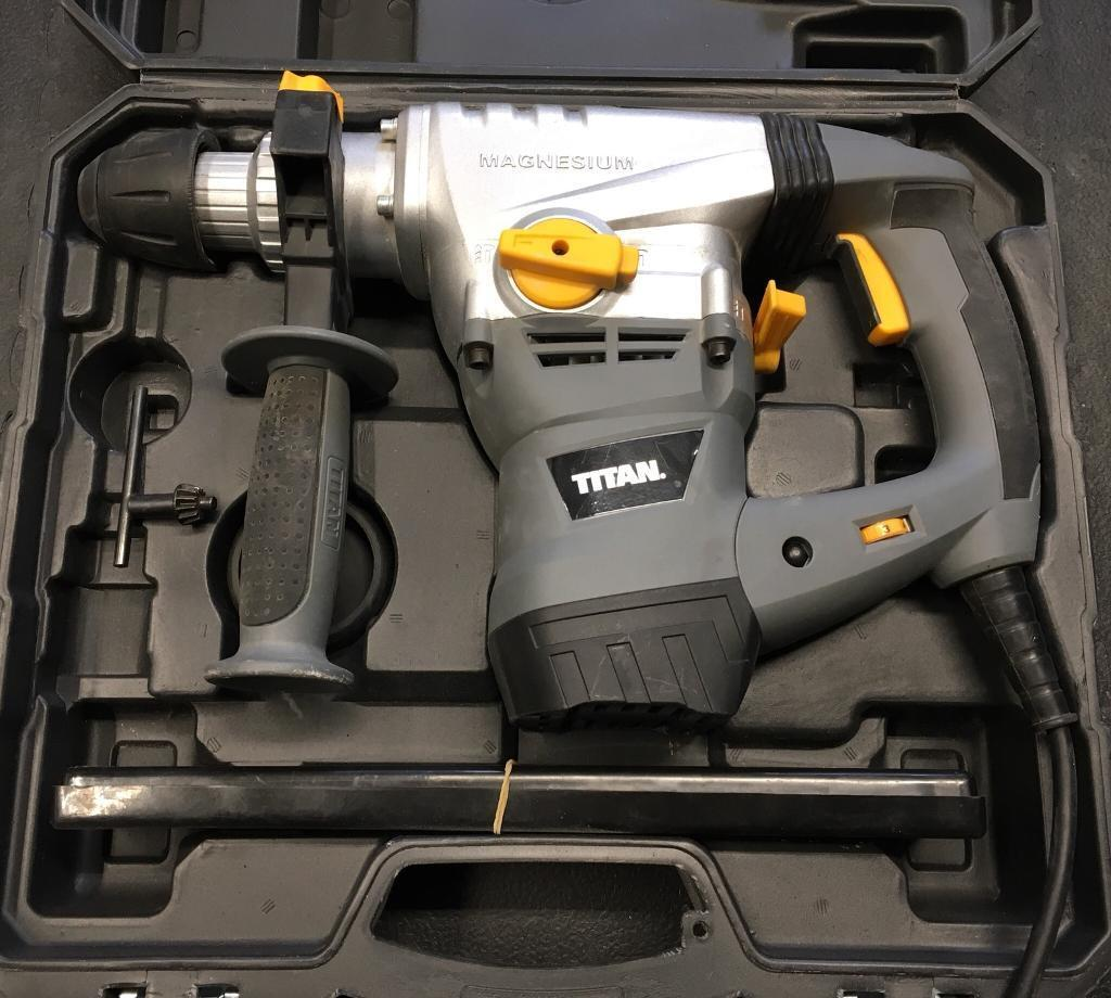 Titan Power Drill Rotary Hammer SDS Excellent condition Used Twice + 16mm  bit concrete garage anchor | in Greenwich, London | Gumtree