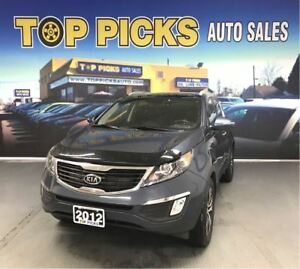 2012 Kia Sportage EX LUXURY, AWD, LEATHER, PAN ROOF, NAV!