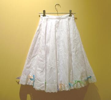 Girls' size 10 skirt: white broderie anglaise w/ coloured ribbons Rockingham Rockingham Area Preview