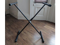 Keyboard stand - foldable 'speedy loc' bespeco