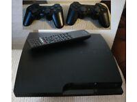 Sony PlayStation 3 Slim 320GB Console CECH-3003B + 2 x CECHZC2E & Remote Control