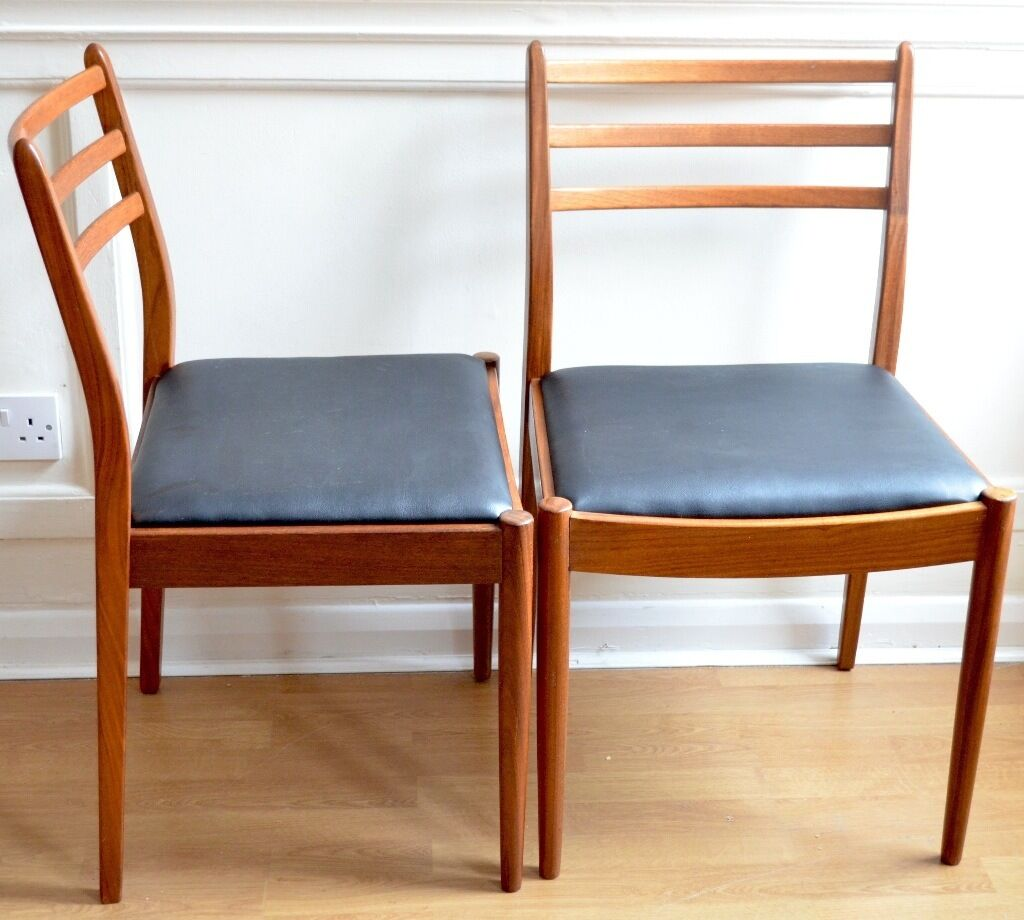 Set of 4 vintage g plan teak chairs delivery for Reupholstered furniture for sale