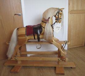 Rocking Horse, hand carved.