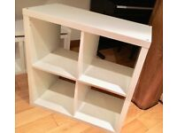 White gloss storage unit