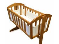 Crib with swinging of fixed facility