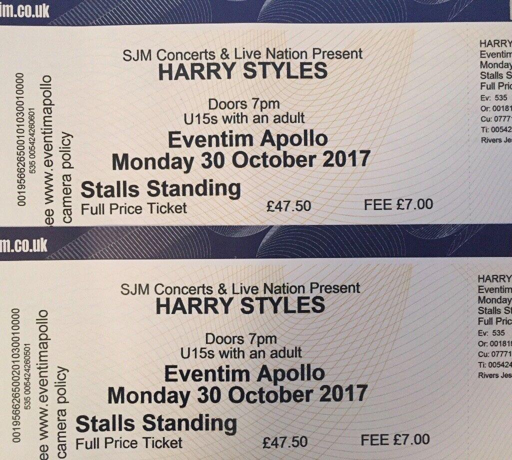 Harry Styles Tickets Monday 30th October 2017 In Hackney London