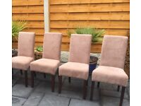Brand New Set Of Four 'Mocha' Dining Chairs