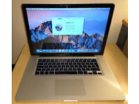 """Macbook Pro 15.4"""" i7 8GB RAM 500GB HDD GeForce GT330M OS Sierra BOXED perfect working condition"""
