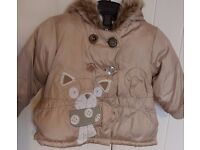 Girls Next coat aged 12-18 months