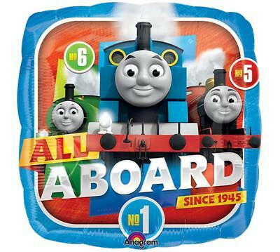 Thomas the Train All Aboard Mylar Foil Balloon 1 Ct Birthday Party Supplies New