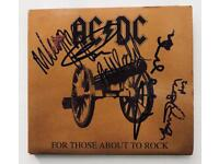 "AC/DC signed album ""FOR THOSE ABOUT TO ROCK"" CD ACDC"