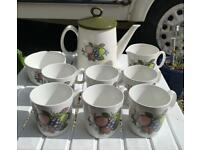 Retro Swinnertons harvest fruit tea/coffee set.