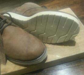 M&S Natural Waxed Leather Boot