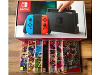 Nintendo Switch Neon + 1xTop Game Pick!!! Fast Postage Available.