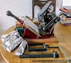 Adana 5x3 Letterpress with added extras