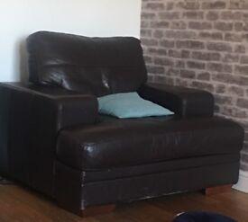 Corner sofa and arm chair