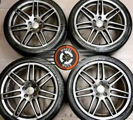 "Refurbished Audi RS4s 19"" genuine, Anthracite Grey Metallic, good tyres."