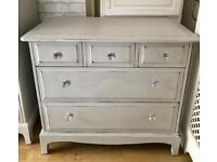 vintage STAG chest of drawers upcycled shabby