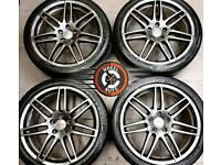 "19"" RS4 Genuine Audi alloys, refurb Anthracite Grey Metallic, good tyres."