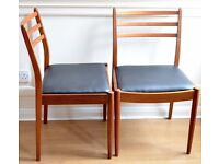 Set of 2 Vintage G Plan teak chairs. Delivery. Reupholstered. Danish / modern / mid century style.