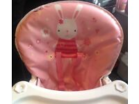 Graco pink highchair