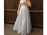 Prom dress, grey, size 10, worn once no marks, very good condition