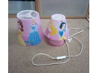 Disney princess lightshade and bedside light set
