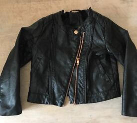 H and m leather jacket