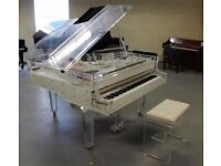 Tesoro Nero - BRAND NEW CRYSTAL TRANSPARENT CONCERT GRAND PIANO!