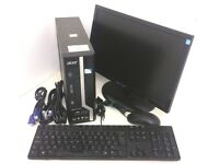 "Acer Veriton X2611G Intel Pentium G645 2.90GHz 4GB Ram 250GB HDD PC Computer 19"" Monitor Keyboard"