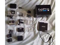 GoPro Hero 4 Black Edition - Like New + Accessories