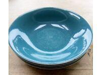 Blue Poole Moon china soup plates