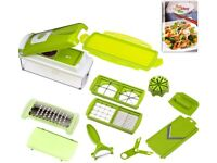 Genius NICER DICER PLUS Vegetable Salad Fruit Cheese PEELER CUTTER CHOPPER GRATER DICER