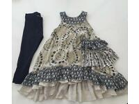 Girls Layered Dress with Leggings 2-3yrs