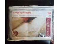 Morphy Richards Heated Blanket in White - Double - Brand New £15