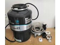 Model 65 Insinkerator. Food Waste Disposal Unit. Very powerful , With Air Switch. 240 Volts.