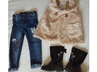 Small bundle of baby girl's clothes age 18-24 months (3 Items - Bundle 1)