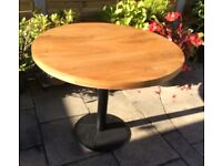 Oak Top Dining Tables x 3. Three Available