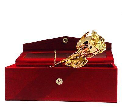 PARTH IMPEX Premium 24K Gold Dipped Rose in Beautiful Velvet Gift Box Best Uniqu