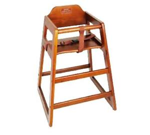 NEW Winco CHH-104 Unassembled Wooden High Chair, Walnut