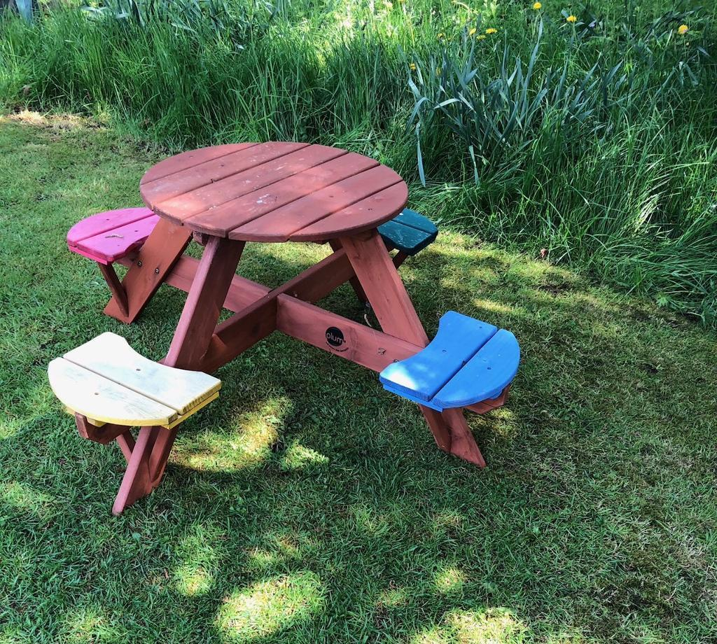 Childrens Circular Wooden Picnic Table By Plum Cost Last - Cost of wooden picnic table