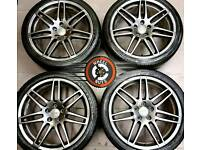 "19"" Genuine Audi RS4s, refurb Anthracite Grey Metallic, good tyres."
