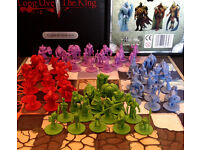 King Down Board Game + Expansion - A New take on Chess with Fantastic Miniatures! Brand New & Sealed