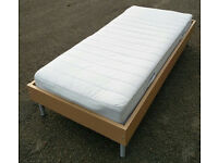 Ikea single bed with mattress (Ikea mattress) / Free delivery in Leicester available