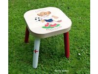 Child's/Kids Ikea Stool England World Cup Football Hand Painted Lion Cub