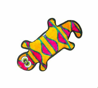 Invincibles Plush Gecko Stuffingless Durable Dog Toy Pet Animal Tough Chewers !