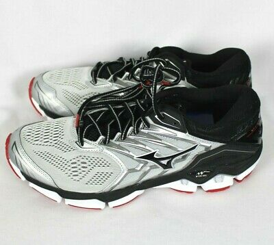 Mizuno Wave - Mizuno WAVE HORIZON 2 Gray Silver Black Running Shoes 8 8.5 9 10 11.5 12 12.5