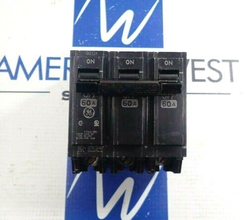 GENERAL ELECTRIC THQB32060 BOLT ON 3 POLE CIRCUIT BREAKER 60A 240V