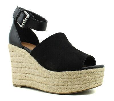 Indigo Rd. Womens I-Airy Black Ankle Strap Heels Size 9 (392900)