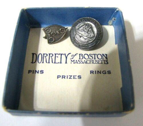 Sterling Silver Lapel Pin Lot of 2 Bank of America California  WOTM Shield + Box
